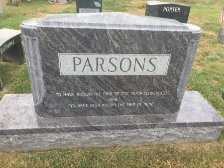 PARSONS, BACK SIDE OF MEMORIAL - Franklin County, Massachusetts | BACK SIDE OF MEMORIAL PARSONS - Massachusetts Gravestone Photos