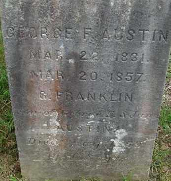 AUSTIN, GEORGE F - Hampden County, Massachusetts | GEORGE F AUSTIN - Massachusetts Gravestone Photos