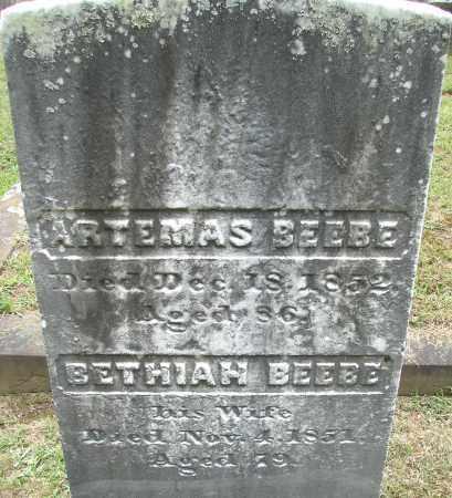 BEEBE, ARTEMAS - Hampden County, Massachusetts | ARTEMAS BEEBE - Massachusetts Gravestone Photos