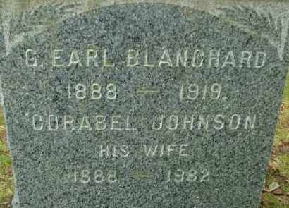 JOHNSON BLANCHARD, CORABEL - Hampden County, Massachusetts | CORABEL JOHNSON BLANCHARD - Massachusetts Gravestone Photos