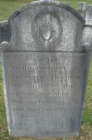BURBANK, SOPHIA - Hampden County, Massachusetts | SOPHIA BURBANK - Massachusetts Gravestone Photos