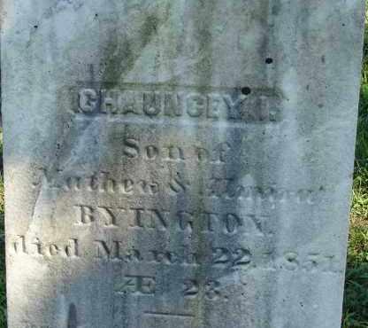 BYINGTON, CHAUNCEY I - Hampden County, Massachusetts | CHAUNCEY I BYINGTON - Massachusetts Gravestone Photos