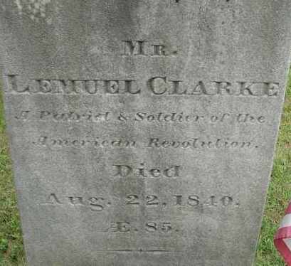 CLARKE (RW), LEMUEL - Hampden County, Massachusetts | LEMUEL CLARKE (RW) - Massachusetts Gravestone Photos