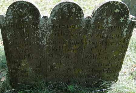 COOLEY, ABIGAIL - Hampden County, Massachusetts | ABIGAIL COOLEY - Massachusetts Gravestone Photos