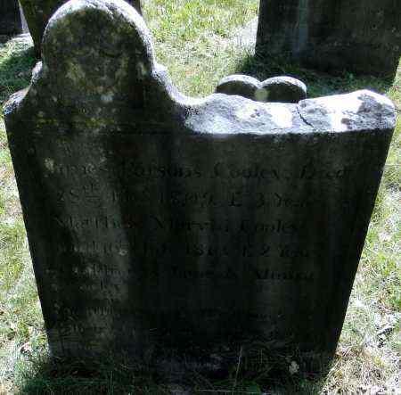 COOLEY, JAMES PARSONS - Hampden County, Massachusetts | JAMES PARSONS COOLEY - Massachusetts Gravestone Photos