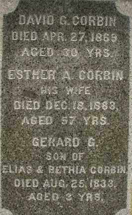 CLAPP CORBIN, ESTHER AUGUSTA - Hampden County, Massachusetts | ESTHER AUGUSTA CLAPP CORBIN - Massachusetts Gravestone Photos