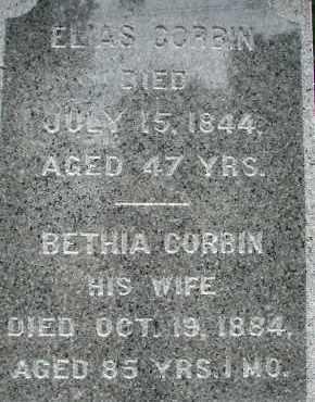 CORBIN, BETHIA - Hampden County, Massachusetts | BETHIA CORBIN - Massachusetts Gravestone Photos