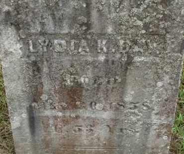 DAY, LYDIA K - Hampden County, Massachusetts   LYDIA K DAY - Massachusetts Gravestone Photos