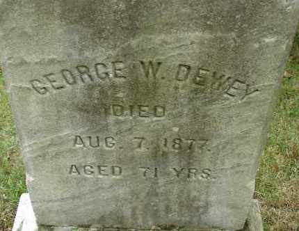 DEWEY, GEORGE W - Hampden County, Massachusetts | GEORGE W DEWEY - Massachusetts Gravestone Photos