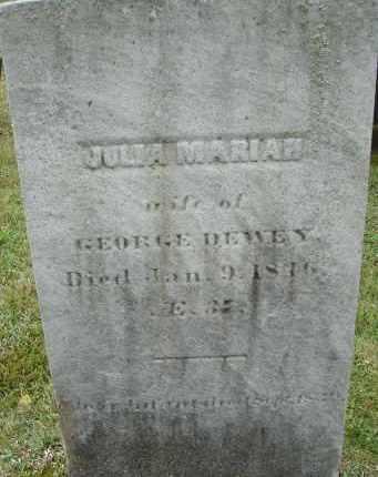 DEWEY, JULIA MARIAH - Hampden County, Massachusetts | JULIA MARIAH DEWEY - Massachusetts Gravestone Photos