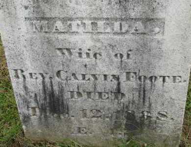 FOOTE, MATILDA - Hampden County, Massachusetts | MATILDA FOOTE - Massachusetts Gravestone Photos