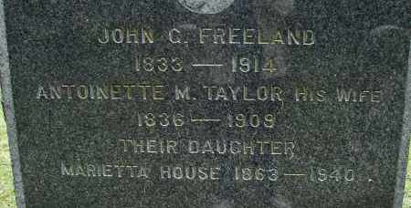 TAYLOR FREELAND, ANTOINETTE M - Hampden County, Massachusetts | ANTOINETTE M TAYLOR FREELAND - Massachusetts Gravestone Photos