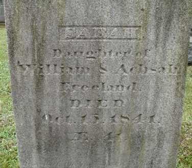 FREELAND, SARAH - Hampden County, Massachusetts | SARAH FREELAND - Massachusetts Gravestone Photos