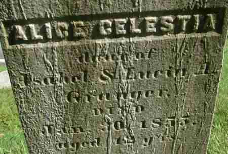GRANGER, ALICE CELESTIA - Hampden County, Massachusetts   ALICE CELESTIA GRANGER - Massachusetts Gravestone Photos
