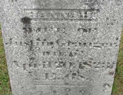 GRANGER, HANNAH - Hampden County, Massachusetts | HANNAH GRANGER - Massachusetts Gravestone Photos