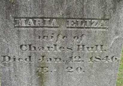 LOOMIS HULL, MARIA ELIZA - Hampden County, Massachusetts | MARIA ELIZA LOOMIS HULL - Massachusetts Gravestone Photos