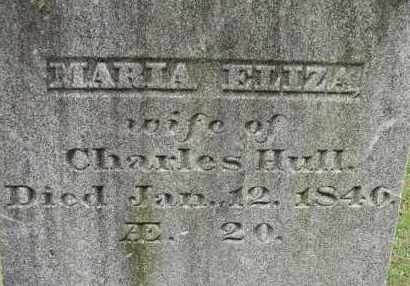 HULL, MARIA ELIZA - Hampden County, Massachusetts | MARIA ELIZA HULL - Massachusetts Gravestone Photos