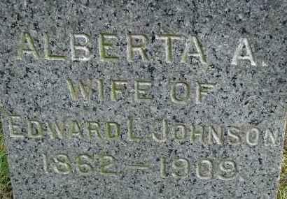STEVENS JOHNSON, ALBERTA A - Hampden County, Massachusetts   ALBERTA A STEVENS JOHNSON - Massachusetts Gravestone Photos