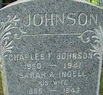 INGELL JOHNSON, SARAH A - Hampden County, Massachusetts | SARAH A INGELL JOHNSON - Massachusetts Gravestone Photos