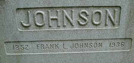 JOHNSON, FRANK L - Hampden County, Massachusetts | FRANK L JOHNSON - Massachusetts Gravestone Photos