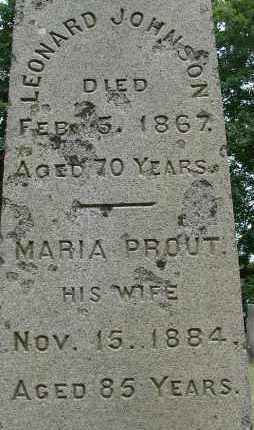 PROUT JOHNSON, MARIA - Hampden County, Massachusetts | MARIA PROUT JOHNSON - Massachusetts Gravestone Photos
