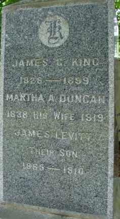 DUNCAN KING, MARTHA A - Hampden County, Massachusetts | MARTHA A DUNCAN KING - Massachusetts Gravestone Photos