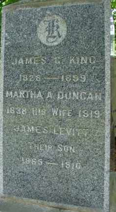 DUNCAN KING, MARTHA A - Hampden County, Massachusetts | MARTHA A DUNCAN KING - Massachusetts Gravestone Photos