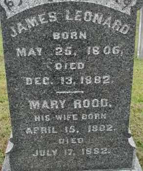 ROOD LEONARD, MARY - Hampden County, Massachusetts | MARY ROOD LEONARD - Massachusetts Gravestone Photos