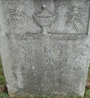 LEONARD, LUCY - Hampden County, Massachusetts | LUCY LEONARD - Massachusetts Gravestone Photos