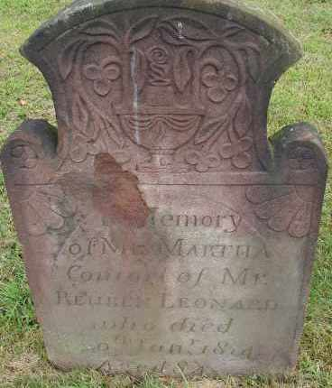 LEWIS LEONARD, MARTHA - Hampden County, Massachusetts | MARTHA LEWIS LEONARD - Massachusetts Gravestone Photos