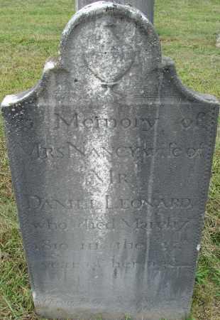 LEONARD, NANCY - Hampden County, Massachusetts | NANCY LEONARD - Massachusetts Gravestone Photos