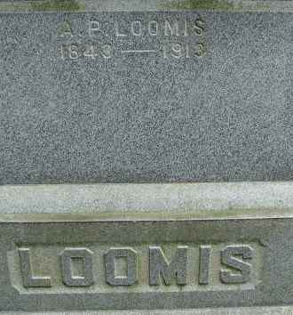 LOOMIS, A P - Hampden County, Massachusetts   A P LOOMIS - Massachusetts Gravestone Photos