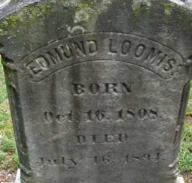 LOOMIS, EDMUND - Hampden County, Massachusetts | EDMUND LOOMIS - Massachusetts Gravestone Photos