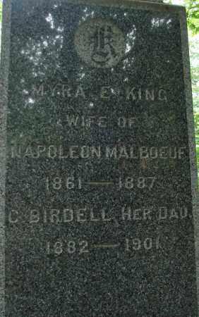 MALBOEUF, C BIRDELL - Hampden County, Massachusetts | C BIRDELL MALBOEUF - Massachusetts Gravestone Photos