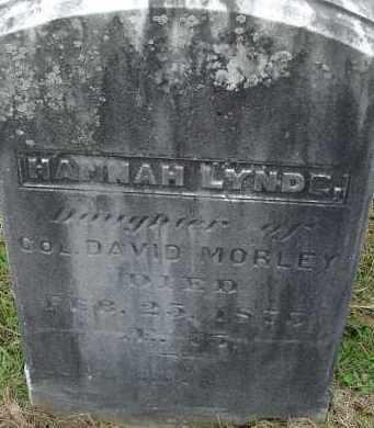 MORLEY, HANNAH LYNDE - Hampden County, Massachusetts | HANNAH LYNDE MORLEY - Massachusetts Gravestone Photos