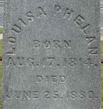 PHELAN, LOUISA - Hampden County, Massachusetts | LOUISA PHELAN - Massachusetts Gravestone Photos