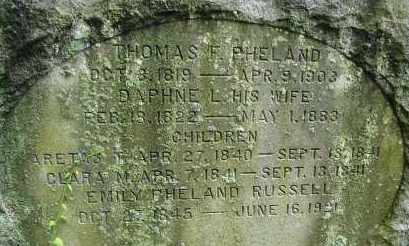 PHELAND, ARETAS T - Hampden County, Massachusetts | ARETAS T PHELAND - Massachusetts Gravestone Photos