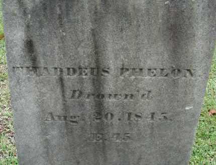 PHELON, THADDEUS - Hampden County, Massachusetts   THADDEUS PHELON - Massachusetts Gravestone Photos