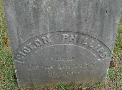 PHILLIPS, GIDEON - Hampden County, Massachusetts | GIDEON PHILLIPS - Massachusetts Gravestone Photos