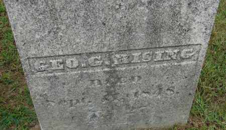 RISING, GEORGE G - Hampden County, Massachusetts | GEORGE G RISING - Massachusetts Gravestone Photos