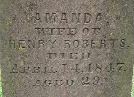 ROBERTS, AMANDA - Hampden County, Massachusetts   AMANDA ROBERTS - Massachusetts Gravestone Photos