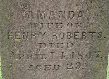 ROBERTS, AMANDA - Hampden County, Massachusetts | AMANDA ROBERTS - Massachusetts Gravestone Photos