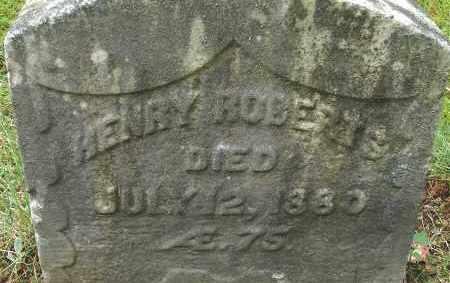 ROBERTS, HENRY - Hampden County, Massachusetts   HENRY ROBERTS - Massachusetts Gravestone Photos