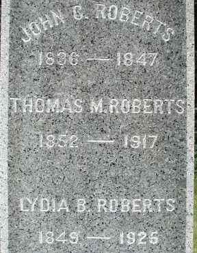 ROBERTS, JOHN C - Hampden County, Massachusetts | JOHN C ROBERTS - Massachusetts Gravestone Photos