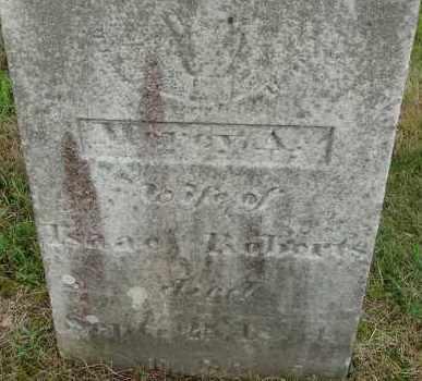 ROBERTS, MARCY A - Hampden County, Massachusetts | MARCY A ROBERTS - Massachusetts Gravestone Photos