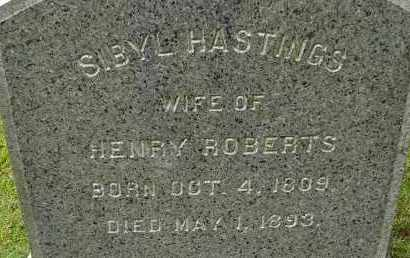 HASTINGS ROBERTS, SIBYL - Hampden County, Massachusetts | SIBYL HASTINGS ROBERTS - Massachusetts Gravestone Photos