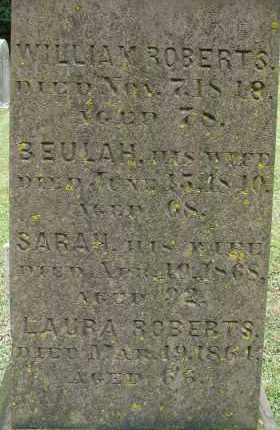 ROBERTS, WILLIAM - Hampden County, Massachusetts | WILLIAM ROBERTS - Massachusetts Gravestone Photos