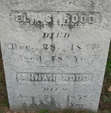ROOD, ANNAH - Hampden County, Massachusetts | ANNAH ROOD - Massachusetts Gravestone Photos