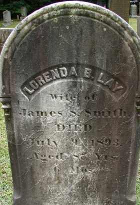 LAY, LORENDA B - Hampden County, Massachusetts | LORENDA B LAY - Massachusetts Gravestone Photos