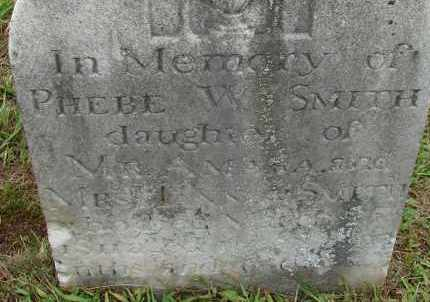 SMITH, PHEBE WORTHINGTON - Hampden County, Massachusetts | PHEBE WORTHINGTON SMITH - Massachusetts Gravestone Photos
